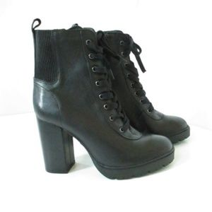 Steve Madden Lace Up Chunky Heel Boot Size 9.5